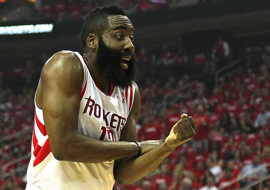 2014 3. James Harden, Rockets forward. Age: 25. Last year: 8.  Why he matters: It's hard to find fault with the offensive fireworks Harden has brought to the Rockets in his short tenure. But he didn't lift his game like superstars must in the recent abbreviated postseason and his defense waivers between ambivalence and atrocious. Both deficiencies are fixable and that's why the Rockets' ultimate upside – after they failed to secure Anthony's services – rests largely on Harden's shoulders. With Dwight Howard, what you see is what you're going to keep getting, which ain't bad. What we see with Harden isn't yet enough. Photo: James Nielsen, Houston Chronicle