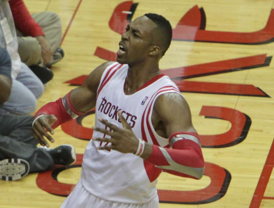 20146. Dwight Howard, Rockets center. Age: 28. Last year: 1.Why he matters:Signing Howard last summer gave the Rockets instant legitimacy plus a major shot of gravitas, and he delivered almost as much as had been promised, which was plenty. But he showed his limitations. The free-throw-shooting thing, for starters, which makes him a liability when games are on the line. Also, he didn't dominate defensively at the same frenetic level he had as a younger player. Nonetheless, as long as he's a healthy Rocket, they'll be a playoff team. But it's going to be up to players around him, first and foremost the  guy with the beard, who determine how far into May – or June – they play. Photo: James Nielsen, Houston Chronicle