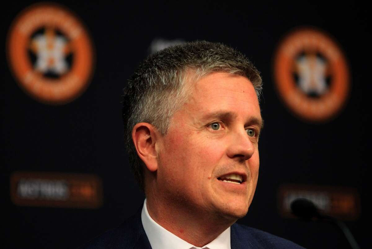 Astros' general manager Jeff Luhnow.