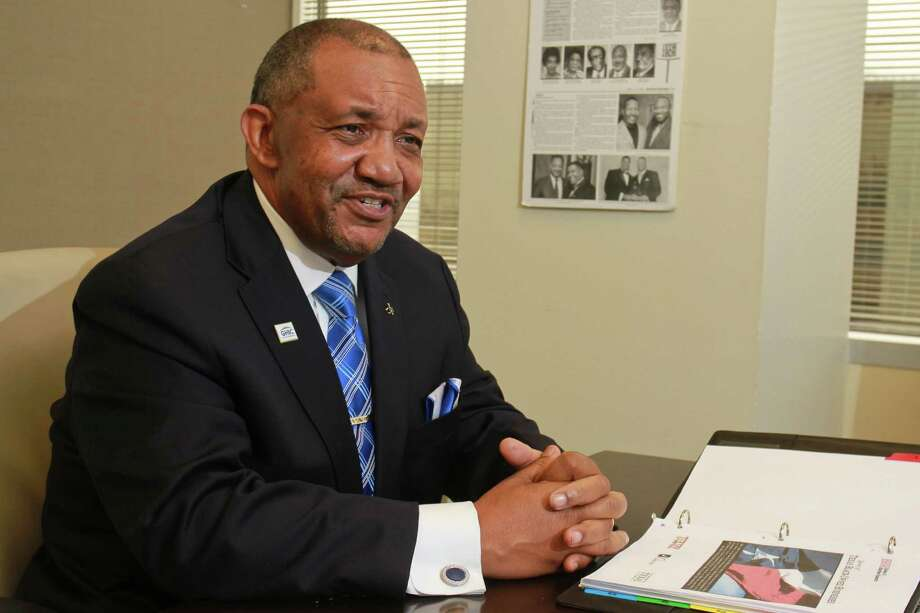 (For the Chronicle/Gary Fountain, July 18, 2014) Leonard James III, president of the Greater Houston Black Chamber of Commerce. Photo: Gary Fountain, Freelance / Copyright 2014 by Gary Fountain