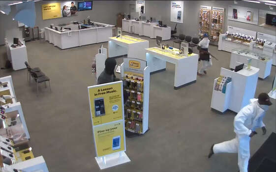 CELLPHONE STORE ROBBERY, PART 1: Houston police are searching for three masked gunmen who robbed a Sprint store at gunpoint on July 17. Investigators believe they may be the same men who committed a similar armed robbery of a Harris County T-Mobile store on July 24, making off with approximately $30,000 in cellphones. (Houston Police)SEE THE VIDEO: Gun-toting trio robs SW Houston cell store Photo: Houston Police Department