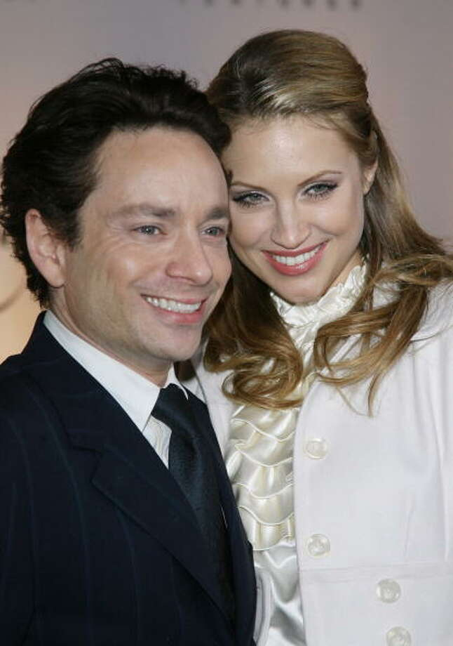 Chris Kattan and Sunshine Tutt:8 weeks (2008) Photo: M. Tran, Getty Images / FilmMagic