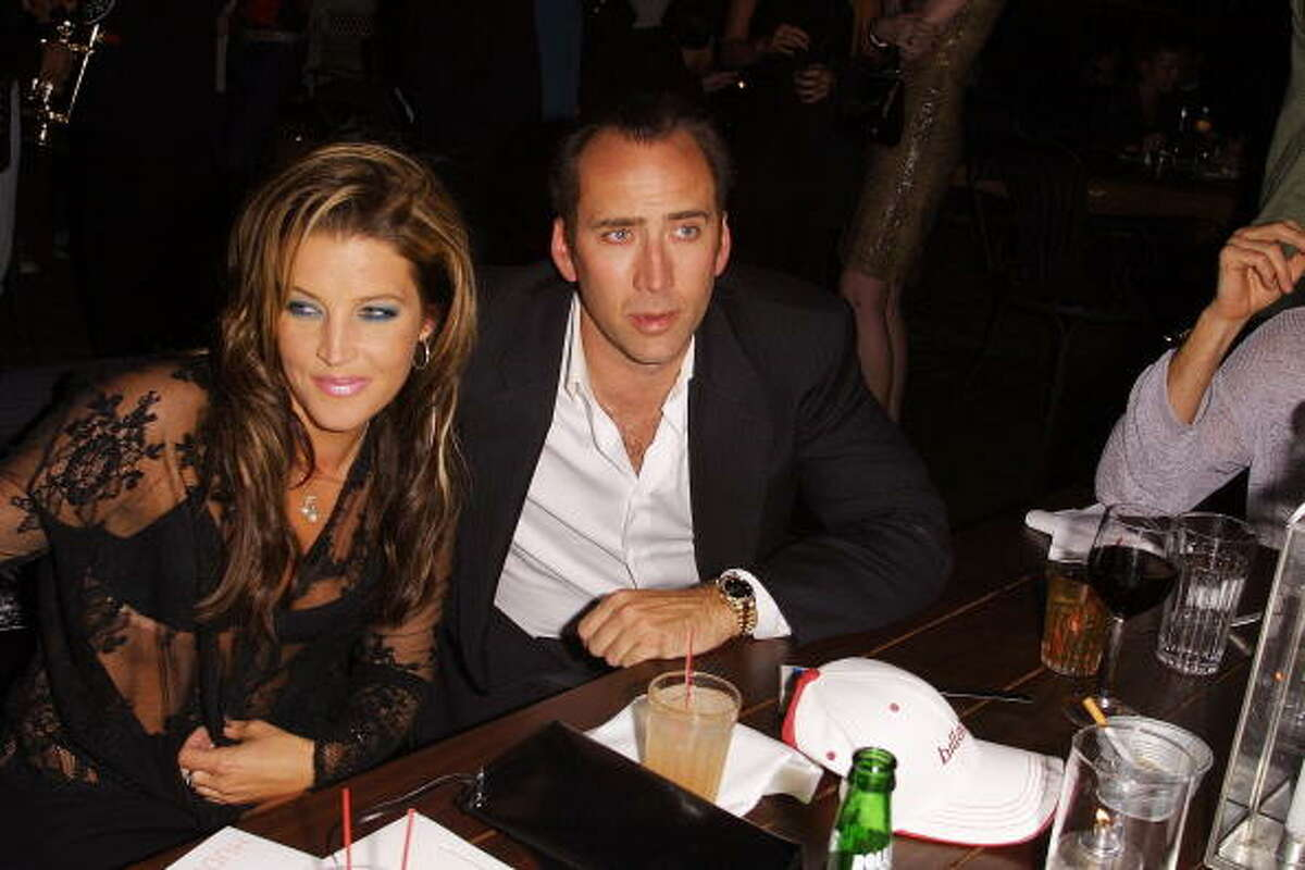 Lisa Marie Presley and Nicolas Cage: 3 months (2002)