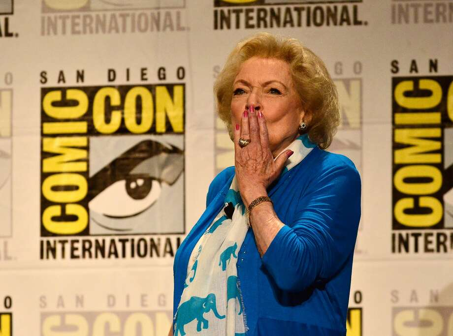 SAN DIEGO, CA - JULY 24: Actress Betty White speaks onstage at TV Land's Legends Of TV Land Panel during the 2014 Comic Con International Convention at Hilton Bayfront on July 24, 2014 in San Diego, California.  (Photo by Jerod Harris/Getty Images for TV Land) Photo: Jerod Harris, Getty Images For TV Land