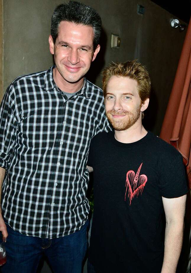 SAN DIEGO, CA - JULY 23:  Actor Seth Green (R) and guest attend Hitfix and Lucasfilm's Comic-Con Kick off party during Comic-Con International 2014 at Hotel Solamar on July 23, 2014 in San Diego, California.  (Photo by Jerod Harris/Getty Images) Photo: Jerod Harris, Getty Images