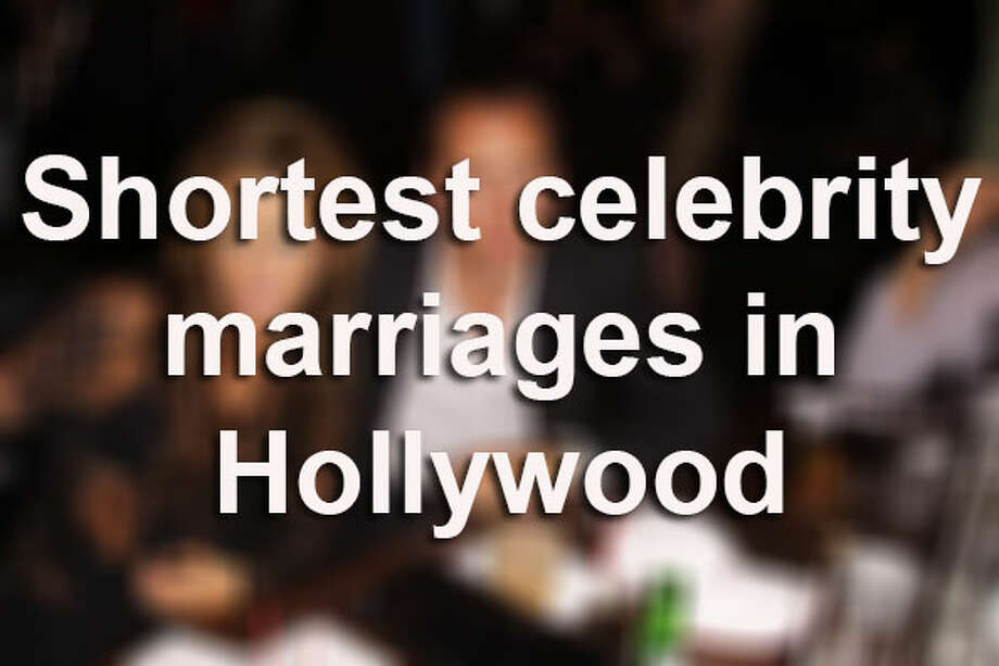 Lights, camera, romance! While on-screen romances have fairy tale endings, in reality, not all marriages survive long enough nowadays. Here are some of the shortest unions in Hollywood, surprisingly, making Kim Kardashian's 72-day marriage hardly the shortest in Hollywood. One classic doomed romance didn't even last long enough to consummate the blissful union.Source: The Hollywood Reporter / © Copyright DMI Photo™