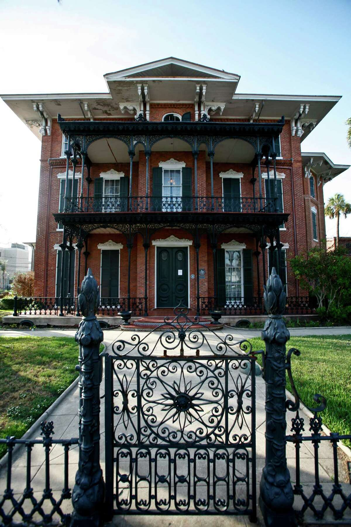 Ashton Villa Located on 2328 Broadway and built in 1859, the museum was once the home of railroad and banking tycoon J.M. Brown.It survived the Hurricane of 1900 and has had reports of apparitions.