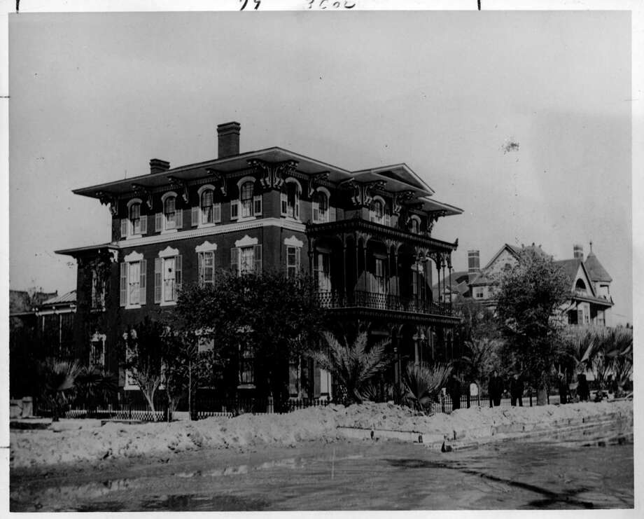 Ashton Villa It survived the Hurricane of 1900 and has had reports of apparitions. This is how it looked in 1902. Photo: Galveston County Historical Foun / handout