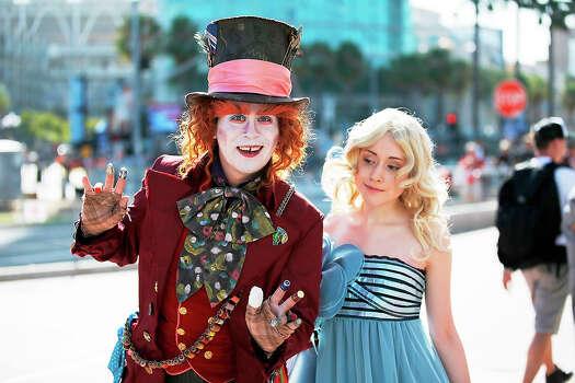 Fans in costume attend Comic-Con International 2014 - Day 1 on July 24, 2014 in San Diego, California. Photo: Joe Scarnici, FilmMagic / 2014 Joe Scarnici