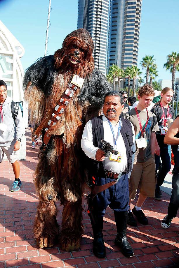 Chewbacca 1It's a hairy, tall, bear-looking thing. It looks fine to us. Photo: Joe Scarnici, FilmMagic / 2014 Joe Scarnici