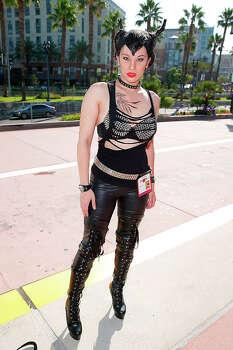 A costumed fan attends Comic-Con International 2014 - Day 1 on July 24, 2014 in San Diego, California. Photo: Joe Scarnici, FilmMagic / 2014 Joe Scarnici