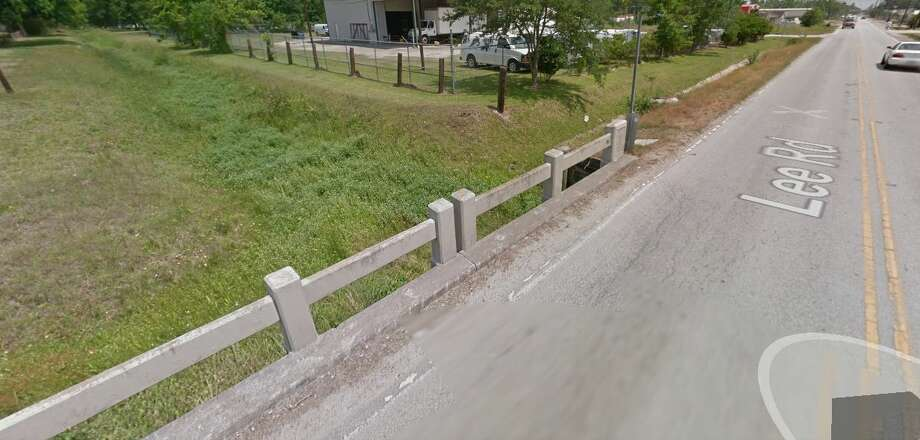 Bridge near 15654 Lee Road in Humble Year built: 1954 Owned by: MunicipalityThe bridge's latest inspection available in November 2011 stated that the substructure was in fair condition and needed structural work, including hydraulic replacements. Photo: Google Earth Screengrab