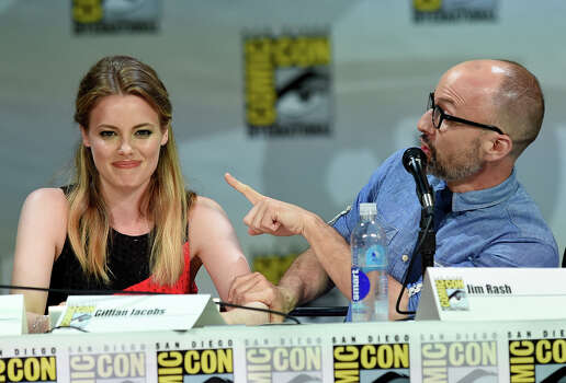 "Actors Gillian Jacobs (L) and Jim Rash attend ""Community"" panel during Comic-Con International 2014 at the San Diego Convention Center on July 24, 2014 in San Diego, California. Photo: Ethan Miller, Getty Images / 2014 Getty Images"