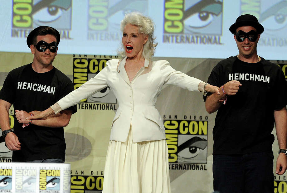 "Actress Julie Newmar (C) attends the ""Batman: The Complete Series"" DVD release presentation during Comic-Con International 2014 at the San Diego Convention Center on July 24, 2014 in San Diego, California. Photo: Kevin Winter, Getty Images / 2014 Getty Images"