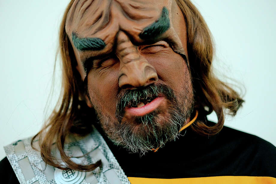 William Pasini, of Santa Barbara portrays the Star Trek character Worf during the 45th annual San Diego Comic-Con on July 24, 2014 in San Diego, California. An estimated 130,000 attendees are expected at this year's convention, which will celebrate the 75th anniversary of both Marvel Comics and the first Batman comic book. Photo: T.J. Kirkpatrick, Getty Images / 2014 Getty Images