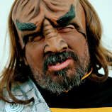 William Pasini, of Santa Barbara portrays the Star Trek character Worf during the 45th annual San Diego Comic-Con on July 24, 2014 in San Diego, California. An estimated 130,000 attendees are expected at this year's convention, which will celebrate the 75th anniversary of both Marvel Comics and the first Batman comic book.