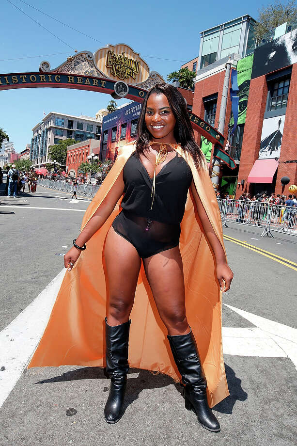 Dee Jay Palacio shows off her costume on the streets of downtown San Diego on July 24, 2014 in San Diego, California. Photo: Daniel Knighton, WireImage / 2014 Daniel Knighton