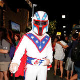 Costumed fans attend Comic-Con International at San Diego Convention Center on July 24, 2014 in San Diego, California.