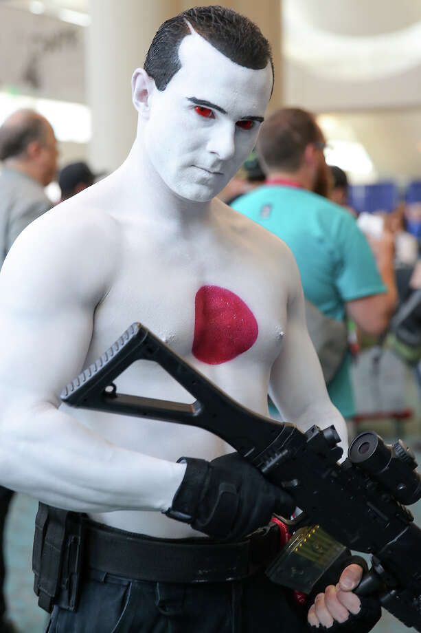 A costumed fan attends Comic-Con International on July 24, 2014 in San Diego, California. Photo: Chelsea Lauren, WireImage / 2014 Chelsea Lauren
