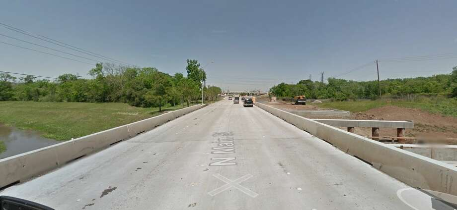 North Main Street over Clear Creek in Pearland Year built: 1963Owned by: TxDOT This bridge is functionally obsolete, meaning it does not meet current federal design standards. Photo: Google Earth Screengrab