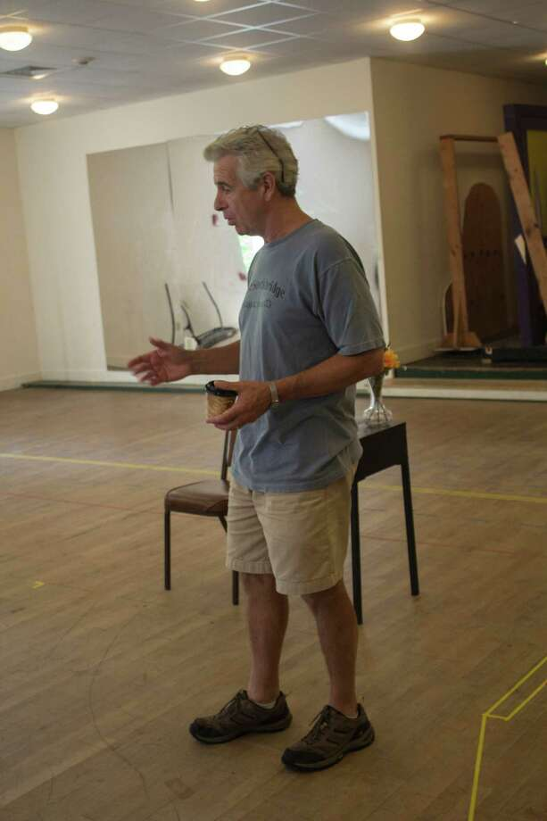 "James Naughton rehearses for ""Cedars."" (Berkshire Theatre Group)"