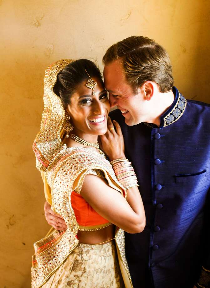Tanvi Amin and Ernest Obrock wed May 3 at Jacuzzi Family Vineyards in Sonoma. Photo: Christina Koci Hernandez, Nightingale Photography