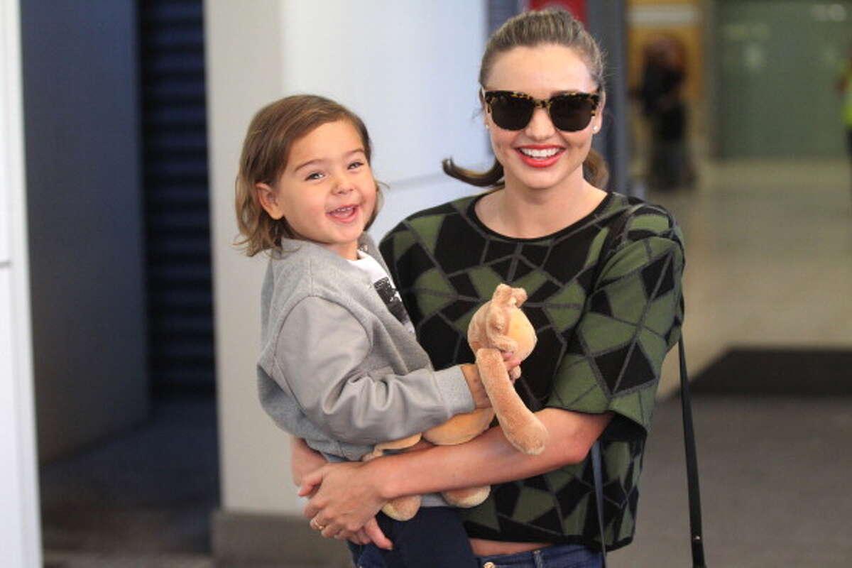 Miranda Kerr and her son Milo