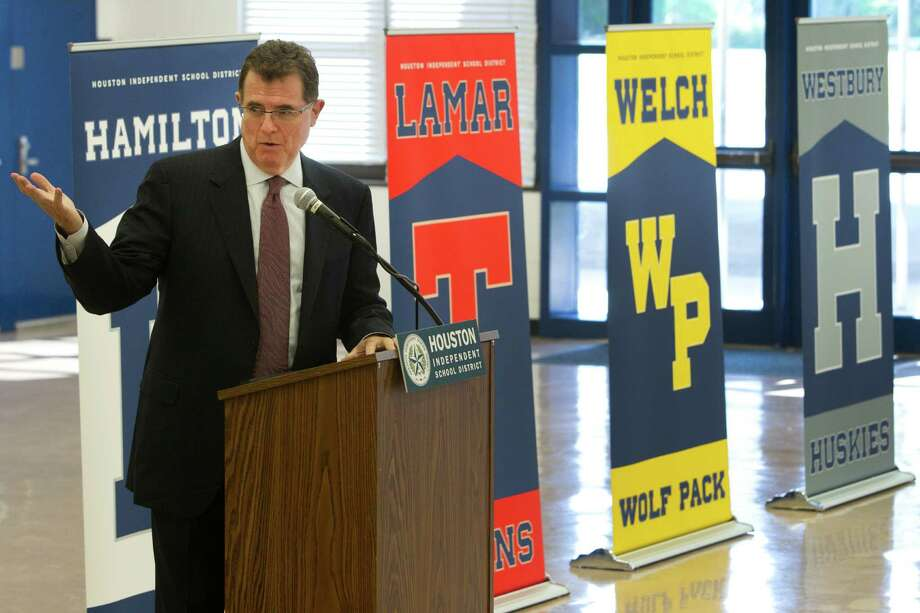 Salaries of Houston-area School SuperintendentsSee how much Houston ISD Superintendent Dr. Terry Grier takes home on a per-year and per-student basis. Photo: Brett Coomer, Houston Chronicle / © 2014 Houston Chronicle