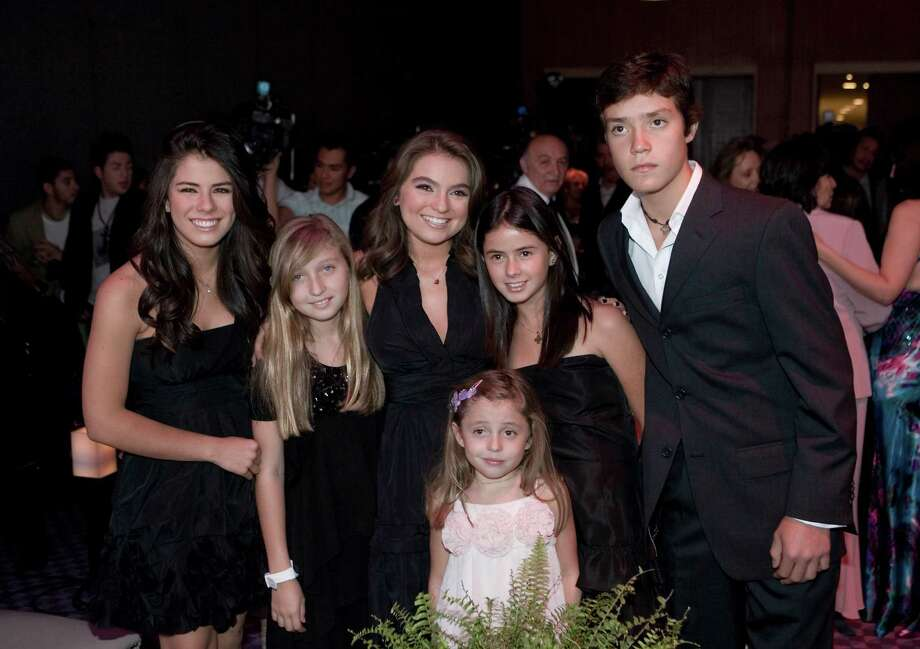 The offspring of Mexican President Enrique Pena NietroThe children of Mexico's president gather for a photo during the release of a new soap opera in Mexico City.  Photo: Clasos, Getty / 2010 Clasos
