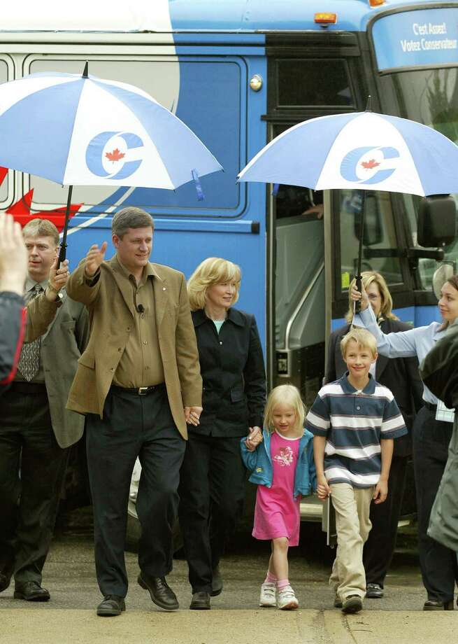 Ben and Rachel Harper, children of Canadian prime minister Stephen HarperBen, far right, and Rachel, center, hold hands with mother Laureen and father Stephen during a campaign stop in 2004.Be honest, if it wasn't for this caption, you would have no idea who these people are.  Photo: Steve Russell, Getty / Toronto Star
