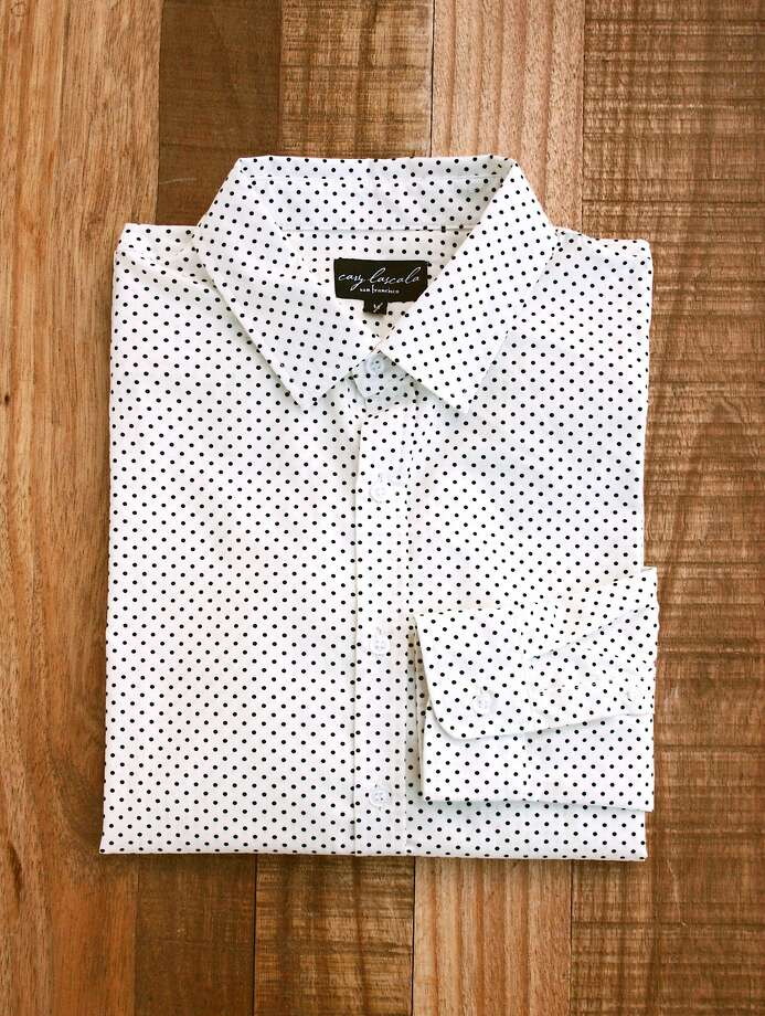 "Cary LaScala ""Polk"" shirt, $78.00. Available at Cary Lane boutiques and online at www.carylascala.com. Photo: Melanie Eusebio"