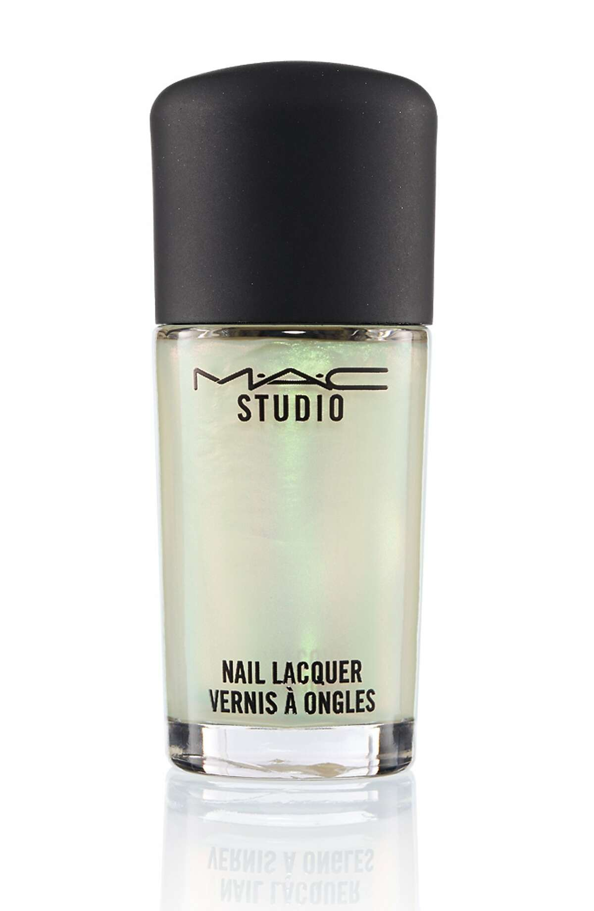 MAC Studio Nail Lacquer Liquid Pigment in Green Pearl, $12, MAC (45 Powell St. and other locations)
