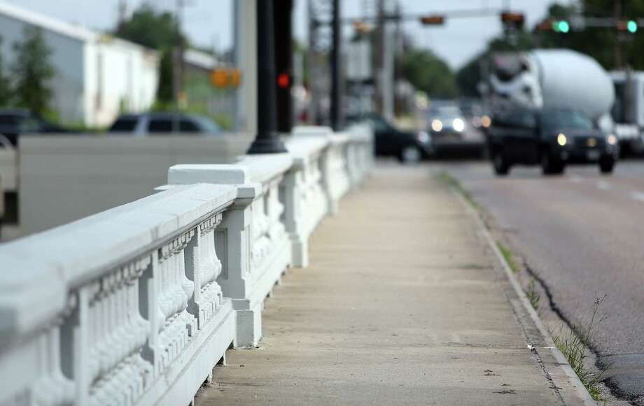 The Yale Street bridge, south of I-10, is scheduled for replacement in a few months despite being a historic 1931 structure. It simply can't accommodate modern traffic and weights, according to some, though others dispute the finding. Photo: Mayra Beltran, Houston Chronicle / © 2014 Houston Chronicle