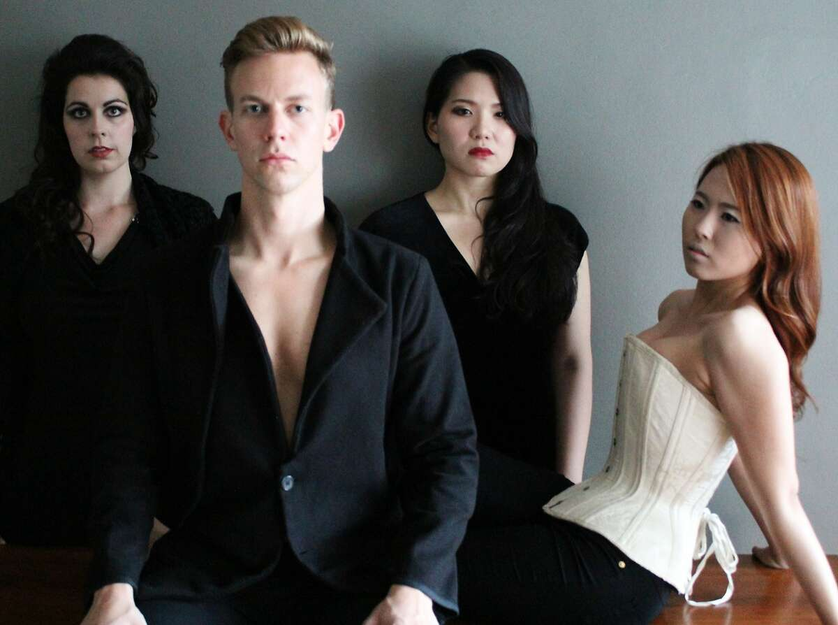 Amanda Woodbury (left) as Donna Anna, Edward Nelson as Don Giovanni, Karen Chia-ling Ho as Donna Elvira and Yujin Kim as Zerlina in the Merola Opera Program's Don Giovanni, Thursday, July 31, and Saturday, August 2, at the Everett Auditorium in San Francisco. For information, visit www.merola.org.