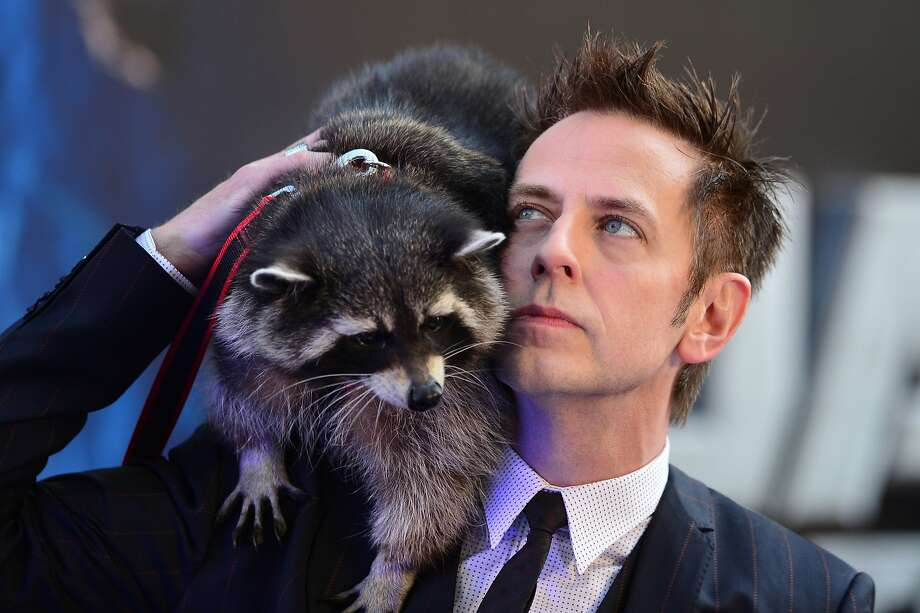 "Gunn toting raccoon:In London, director James Gunn and a friend attend the European premiere of the film ""Guardians of the Galaxy,"" which happens to star a gun-toting raccoon. Photo: Carl Court, AFP/Getty Images"