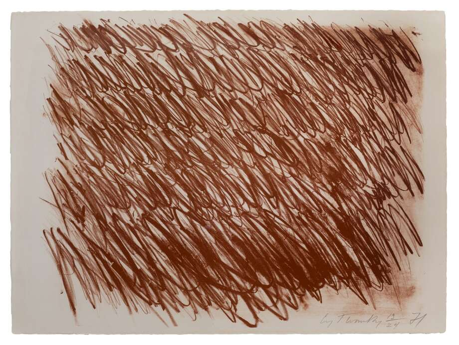 Cy Twombly untitled 1971 lithograph (Bastian 29) courtesy of Hiram Butler Gallery Photo: Hiram Butler Gallery