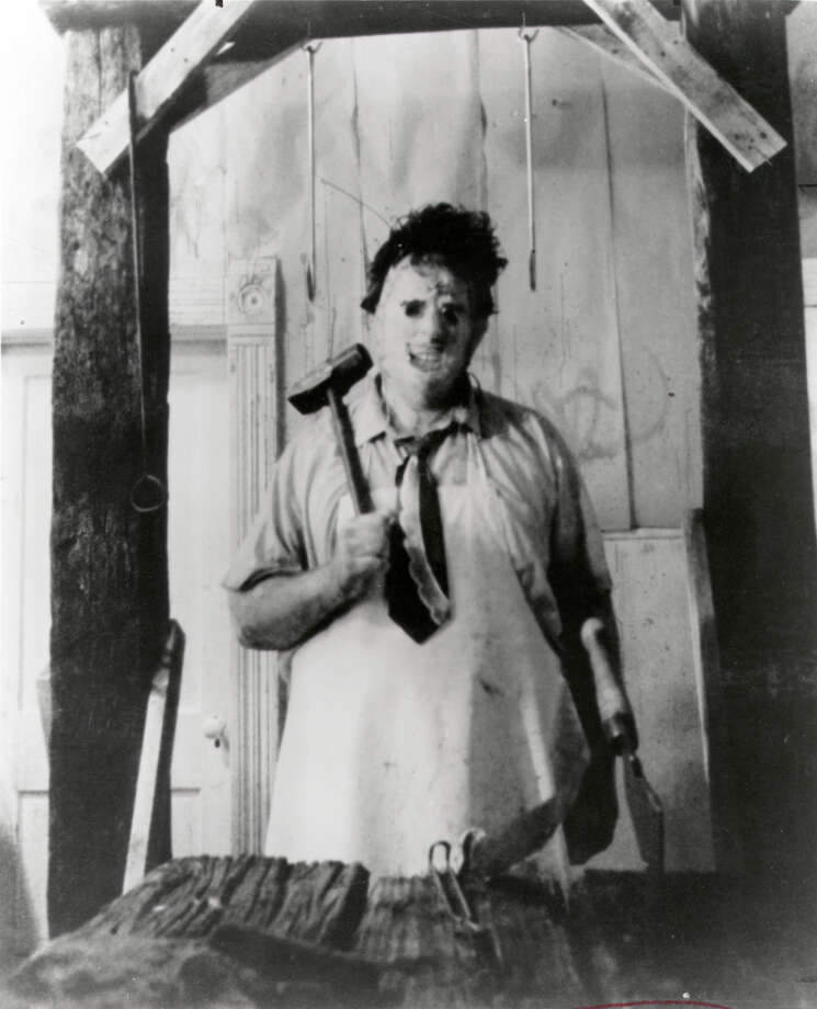 "1974: LeatherfaceGunnar Hansen as Leatherface in 1974's ""Texas Chainsaw Massacre."" Photo: Bryanston Pictures / HANDOUT"