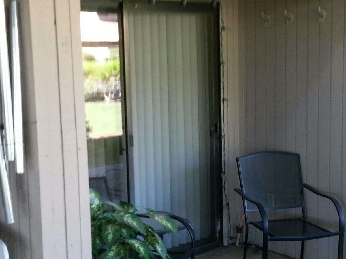 Cory Tschogl's father took these photos of the glass doors and windows wide open at her Palm Springs condo on a 114-degree day while her