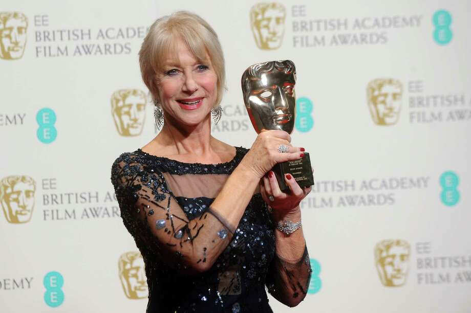 LONDON, ENGLAND - FEBRUARY 16:  Dame Helen Mirren, winner of the Fellowship award, poses in the winners room at the EE British Academy Film Awards 2014 at The Royal Opera House on February 16, 2014 in London, England.  (Photo by Anthony Harvey/Getty Images) Photo: Anthony Harvey, Stringer / 2014 Getty Images