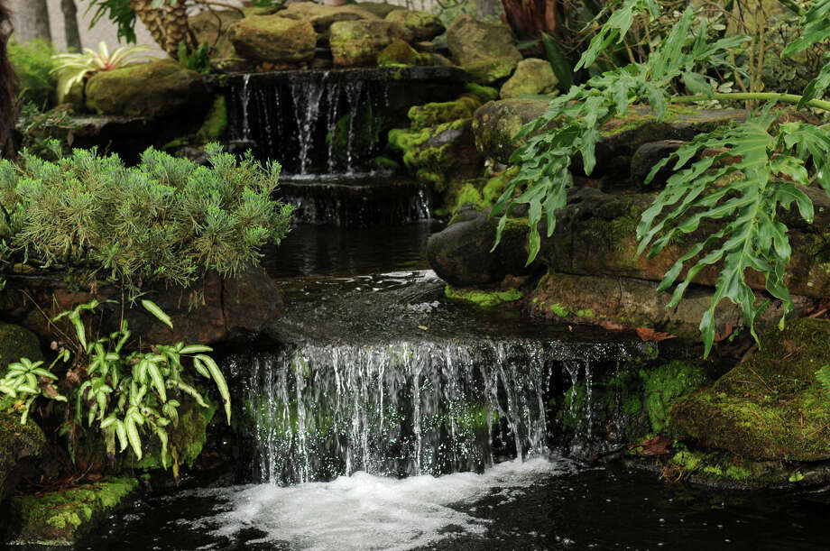 A garden water feature with moving water isn't as likely to become a mosquito breeding ground as a feature with still water. Photo: Jerry Baker, Freelance