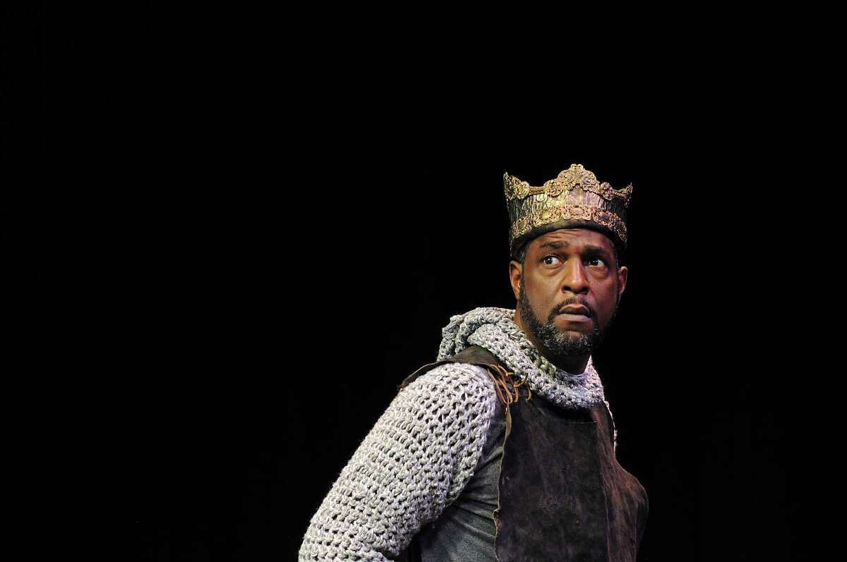 Mirron Willis as Henry IV during rehearsals for Henry IV at the University of Houston Wednesday July 23, 2014.(Dave Rossman photo)
