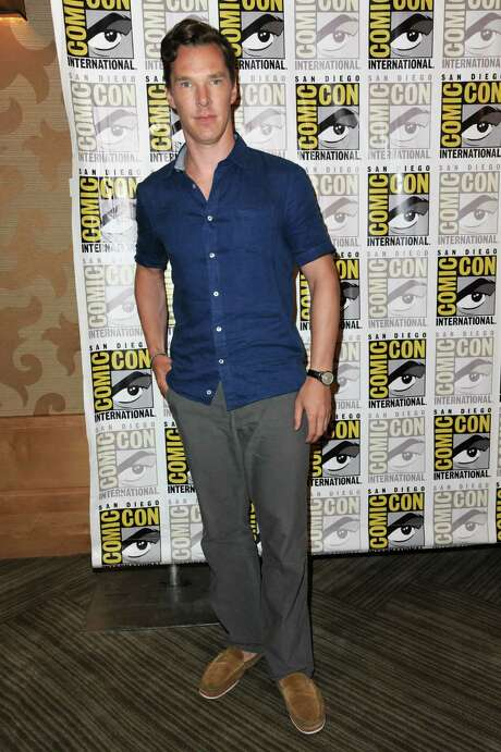 """Benedict Cumberbatch attends  """"The Penguins of Madagascar"""" press line on Day 1 of Comic-Con International on Thursday, July 24, 2014, in San Diego. (Photo by Richard Shotwell/Invision/AP) Photo: Richard Shotwell, INVL / Invision"""
