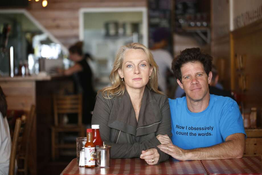 Piper Kerman and Larry Smith, now married, sit at Kate's Kitchen in the Lower Haight, the restaurant where they first met. Photo: Mike Kepka