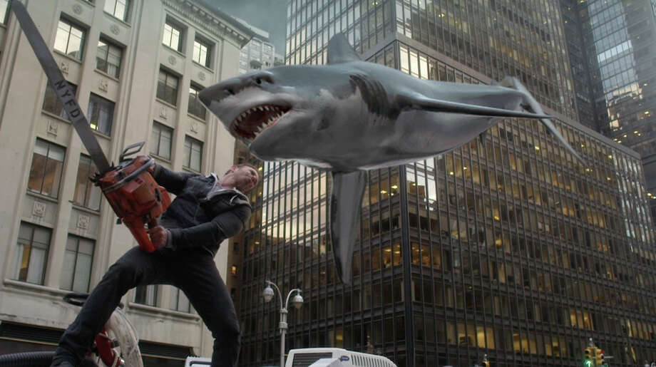 SHARKNADO 2: THE SECOND ONE -- Pictured: Ian Ziering as Fin Shepard -- (Photo by: Syfy) Photo: Syfy / 2014 Syfy Media, LLC