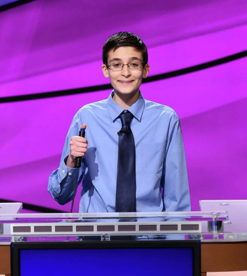 "William Golden, Houston's 13-year-old ""Jeopardy!"" whiz, will be back on the show to compete in the seminfinals of the ""Jeopardy! Teen Tournament"" on Monday. (Photo courtesy CBS Television Distribution) See some of the toughest 'Jeopardy!' questions ever asked ...  Photo: Carol Kaelson Photographer, CBS Television Distribution / © 2014 Califon Productions, Inc."