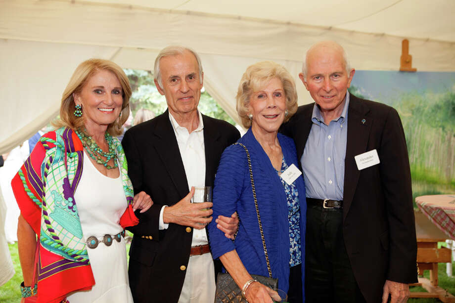 Denise Monteleone, Jim Martin, Judy Allen and Alex Dell at the University of Texas MD Anderson Cancer Center's Making Cancer History Seminar in Aspen, Colo. Photo: MarySue Bonetti / ONLINE_YES