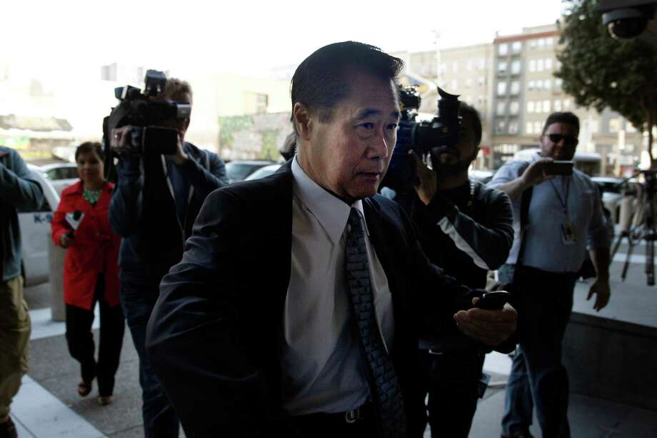 Suspended California state Sen. Leland Yee arrives at the Phillip Burton Federal Building and United States Courthouse for his arraignment on Tuesday, April 8, 2014, in San Francisco, Calif. Photo: Lea Suzuki / The Chronicle / ONLINE_YES