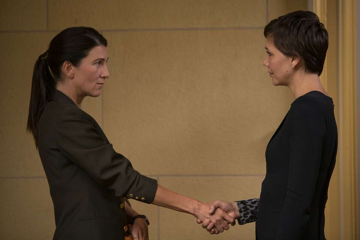 L to R, Eve Best and Maggie Gyllenhaal - in the SundanceTV original series
