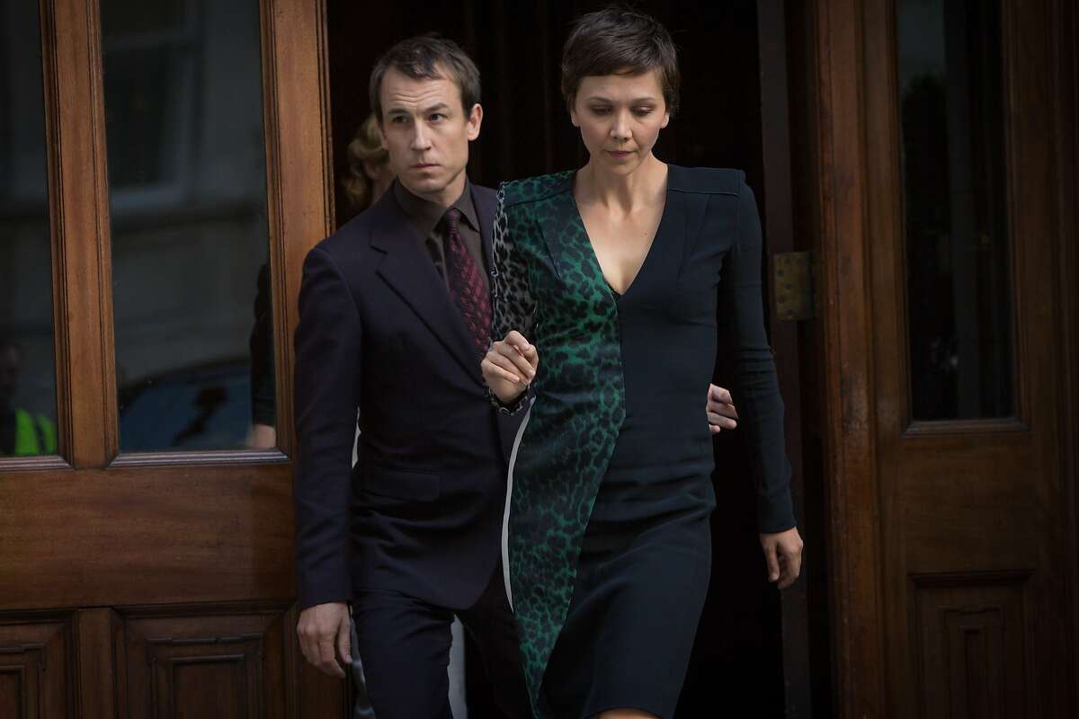 L to R, Tobias Menzies and Maggie Gyllenhaal - in the SundanceTV original series