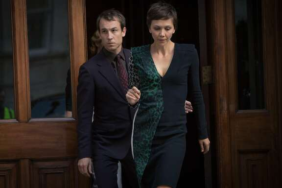 "L to R, Tobias Menzies and Maggie Gyllenhaal - in the SundanceTV original series ""The Honorable Woman"""